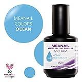 MEANAIL GEL COLOR 15 ML - Vernis à ongles Semi Permanent séchage rapide avec toute Lampe UV/LED - Dure jusqu'à 3 semaines - Disponible en 48 couleurs sublimes - Ocean - 300V15
