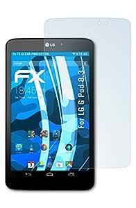 2 x atFoliX Film Protection d'écran LG G Pad 8.3 Protecteur d'écran - FX-Clear ultra claire