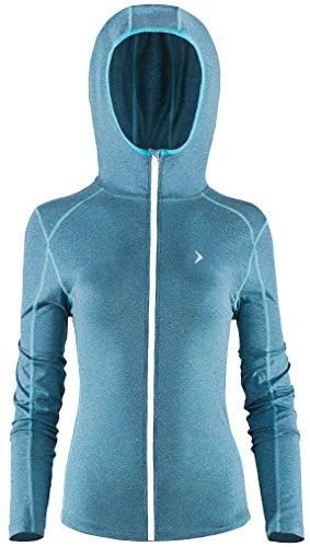 outhorn haute qualité à capuche Pull Chemisier pour femme sweat Sweat-shirt à capuche à capuche pull freizet Veste d'extérieur à manches longues pull Sport bldf620SS17 bleu