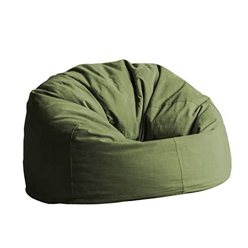 Bean Bag Gaming Sitzsack Stuhl Lazy Sofa Lounger Personalisierte Garten Im Freien Geeignet Für Kleine Wohnung Tatami (Color : Army Green, Size : 90cm)