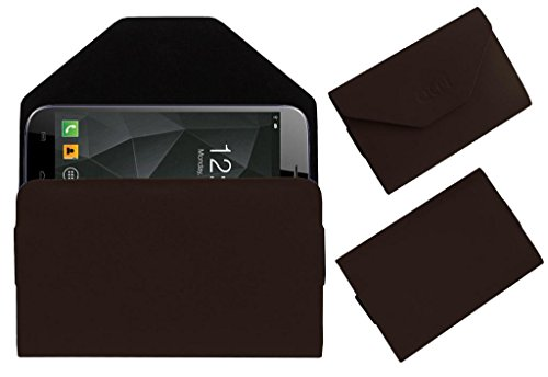 Acm Premium Pouch Case For Micromax A250 Canvas Turbo Flip Flap Cover Holder Brown  available at amazon for Rs.179