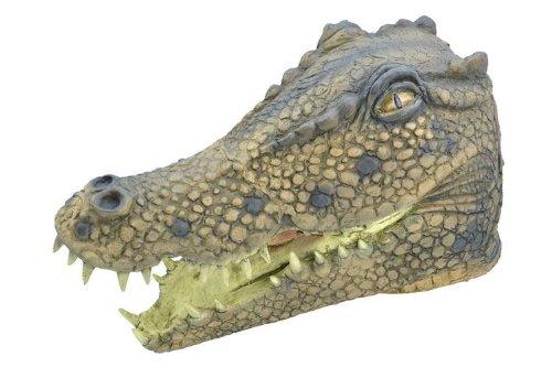 Gummi-Überkopf-Krokodil, Tier-Maske Halloween ()
