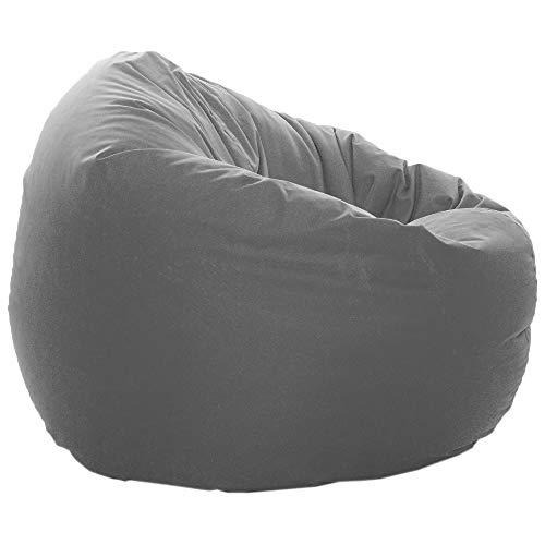 GlueckBean Sitzsack Bodenkissen Kissen 2 in 1 Funktion 3 Verschiedene größen (100cm Durchmesser, Anthrazit)