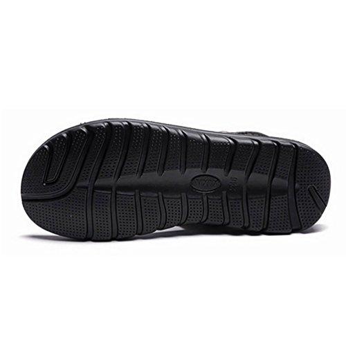 YOUJIA Herren Outdoor Sandalen Bequemes Material Mit Leder Overlay 37-50 Braun