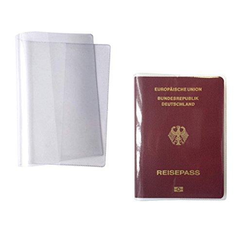 """1. Echte""""MADE IN GERMANY"""" glasklare, preiswerte und günstige Reisepasshülle für Ihren alten Pass - ausgegeben bis 04/2017 - und den neuen ePass - ausgegeben ab 04/2017 - hergestellt nach DIN EN 71-3"""