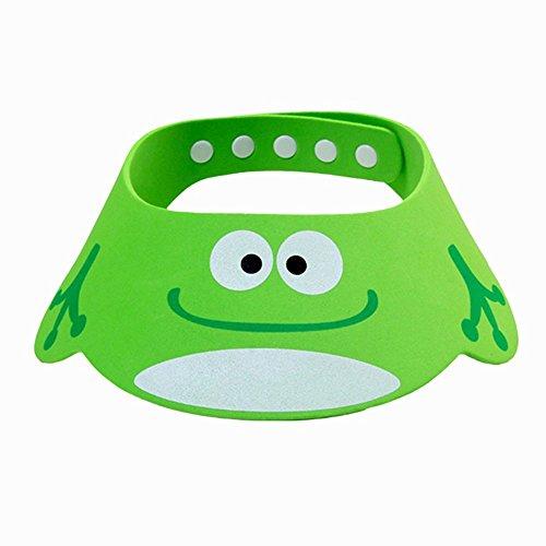 Bluelans® Kinder Baby Verstellbarer Shampoo Schutz Duschhaube Duschkappe Badekappe Ohrschutz Mütze Bath Shower Cap (Grün) (Waschen Ca)
