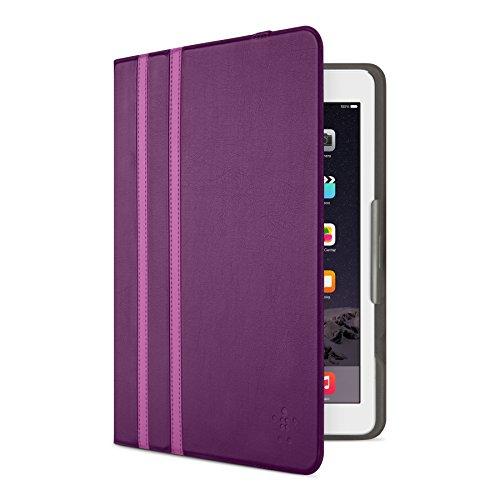 Belkin Universal Twin Stripe Schutzhülle (für Tablets, Apple iPad Air, iPad Air 2, iPad 2017, Samsung Galaxy Tab A (10 Zoll), S2 (10 Zoll)) lila