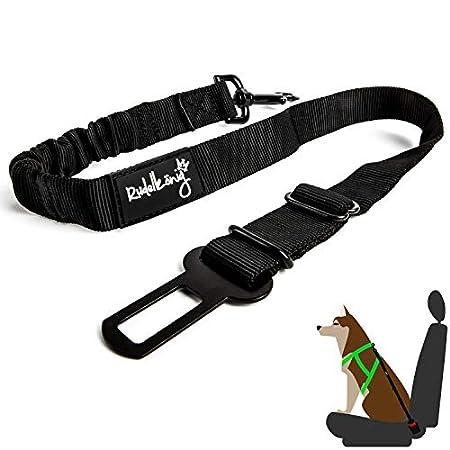 Rudelkönig Hundesicherheitsgurt fürs Auto – elastischer Anschnallgurt – stufenlos einstellbar – für alle Hunderassen & Autotypen