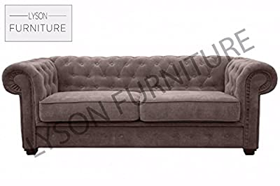 IMPERIAL Sofa Bed ( CHESTERFIELD ) Fabric (Different Colours) by Meble Robero sp. zoo