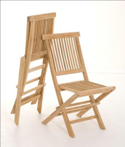 MACABANE 500968 Chaise, Brut, 48 x 114 x 19 cm, Lot de 2 chaises java (500981)
