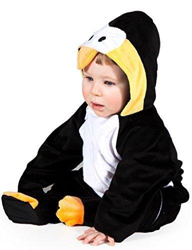 Baby Kostüm Jungen/Mädchen Pinguin Kostüm Haloween Weihnachten Einheitsgröße Verkleidung - Schwarz/Weiß, 12-18 Monate (Haloween Kostüm)