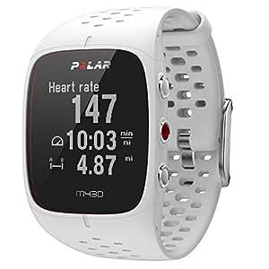 Polar M430 Orologio GPS multisport con cardiofrequenzimetro integrato, monitoraggio attività fisica e sonno, connettività a mobile e web service, Bianco