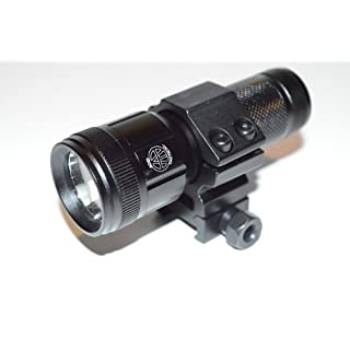 Acid Tactical® Compact CREE LED Gun Shotgun Rifle Flashlight, Rail Mount, Pressure Switch