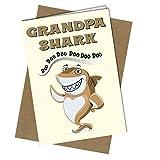 Biglietto di compleanno o divertente festa del papà per nonno squalo canzone divertente per bambini #1067