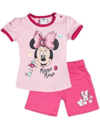 Minnie Ensemble Short et T-Shirt bébé Fille Rose de 3 à 24mois 7597467df88