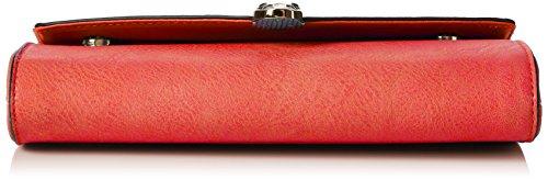 Swanky Swans - Bali Snakehead Leather Clutch, Pochette da giorno Donna Rosso (Scarlet)