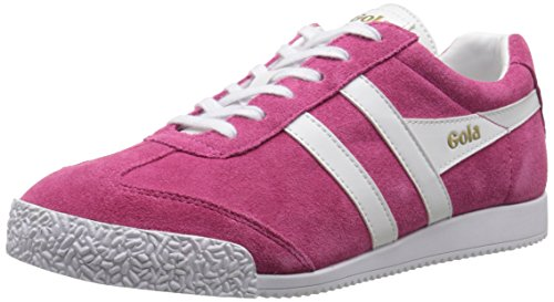 Gola Damen Harrier Sneakers, Rosa (Hot Fuchsia/White), 40 - Gola-damen Klassische Schuhe