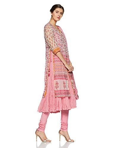 525c8a5281c BIBA Women s Angrakha Salwar Suit (SKD5499 PINK 34)