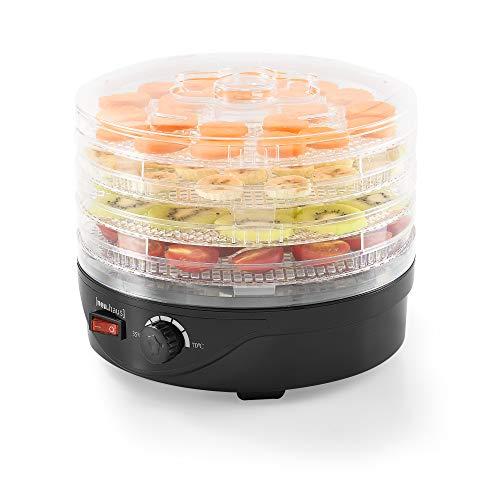 [neu.haus] Dörrgerät, Obst und Gemüse Trockner - mit 4 Etagen - Dörrautomat Food Dryer Rund