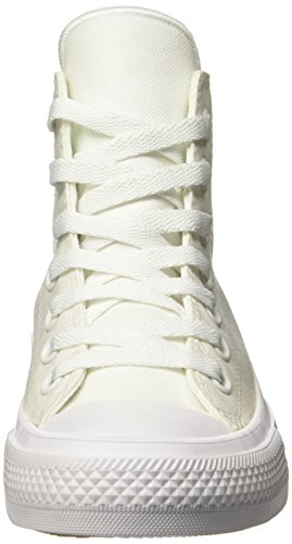 Converse Chuck Taylor All Star Ii C150148, Sneakers Hautes Mixte Adulte Blanc (White/white/navy)