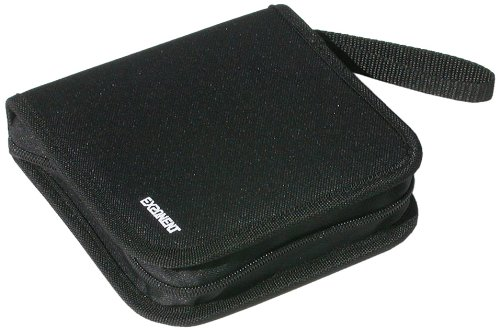 Exponent World - Borsa porta CD per 24 CD/DVD, colore: nero