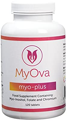 MyOva supplement for PCOS: Myo Inositol + Folic acid + Chromium | Promotes hormonal balance & normal ovarian function | Chromium contributes to normal macronutrient metabolism & the maintainance of normal blood glucose levels | 30 days supply, 120 tablets