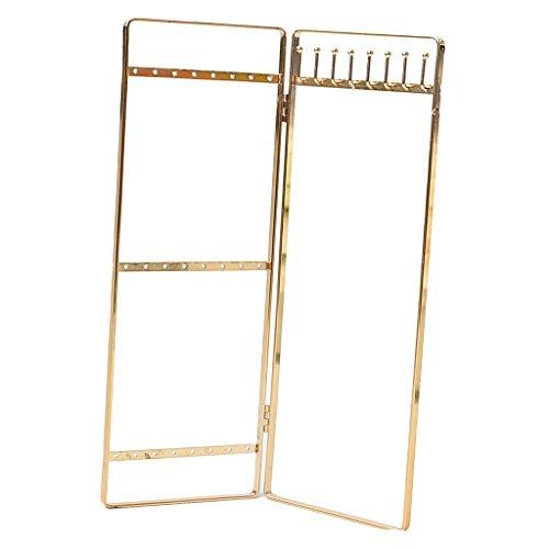 Homyl Schmuck Ständer Double Panel form Schmucklade aus Holz Schmuckbewahrung Schmuck Anzeige (Hang-panels)