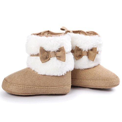 pour 0-18 mois Bébé fille, Amlaiworld Bébé Bowknot garder bottes de neige chaude Chaussures Kaki