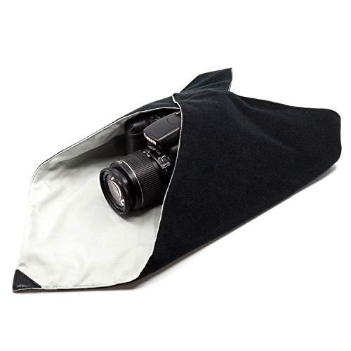 AmolithTM Einschlagtuch für Kamera als Schutzhülle für Fotoausrüstung im Rucksack, Tasche, Beutel etc. | Passen für Vollformat DSLR, Objektiv, Stativ, Tablet-PC, etc. | L (50 x 50 cm) | AML-8797
