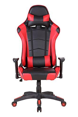 Sedia gaming, intimate wm heart sedia da ufficio sedia lussuosa schienale reclinabile alto cuoio di pu sedia girevole direzionale regolabile ergonomica poltrona girevole sedia del gioco computer