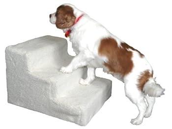 Amzdeal Escalier animal Marches pour chien chat PetStair - 3 marches - 45×35×30cm - Blanc