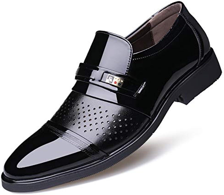 Jiuyue-scarpe, 2018 2018 2018 Scarpe da uomo in pelle verniciata casual stile nuovo, scolpito e traspirante, da uomo Scarpe... | Bello e affascinante  2577cc