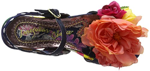 Irregular Choice Romany Rose - Sandali a Punta Aperta donna Blu (Blue)