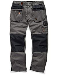 5d43ba81b89f Scruffs Worker Plus Graphite Grey Work Trousers Hardwearing Trade Combat  Cargo Men s Kneepad Pocket Workwear Pants