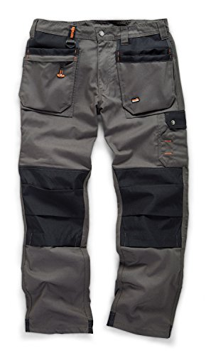 Scruffs Worker Plus Graphite Grey Work Trousers (All Sizes) Hardwearing Trade Combat Cargo Men's Kneepad Pocket Workwear Pants