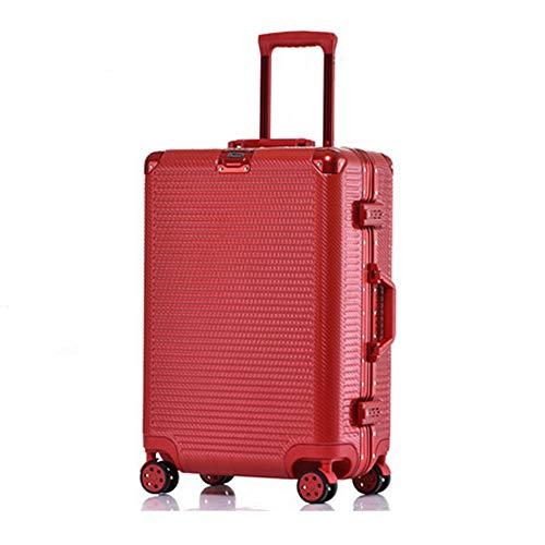 TY&GH Bagage Portable Rigide Ultra-Léger Et Durable en Abs - Serrure TSA Intégrée À 4 Roues - Chariot À Bagages pour Voyage De Cabine - Rouge,Red,29In