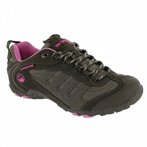 Hi-Tec Penrith Low Waterproof, Chaussures de Randonnée Basses Femme Gris/Rose