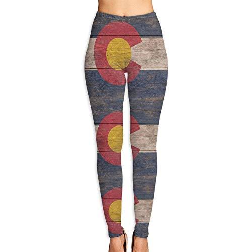 J Crew Trainingshose (Deglogse Yogahosen, Trainingsgamaschen,Rustic Colorado State Flag Yoga Pants for Women Sport Tights Workout Running Leggings)