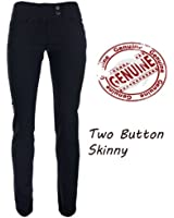 NEW GIRLS BLACK SCHOOL SEXY TROUSERS MISS SEXIES SIZES 6 8 10 12 14 SKINNY LEG 33 INCH 2 BUTTON LONG LENGTH LEG 33 INCH