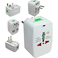 Ketsaal Universal Travel Adapter with Built, 250V Surge/Spike Protected Electrical Plug (White)