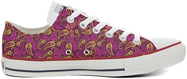 Converse All Star Zapatos Personalizados (Producto Artesano) Decor Paisley  -