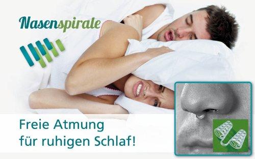 Anti-Schnarch Nasenspirale (10er Set), Schnarch-Stopper als Schlafhilfe und für freie Atmung beim Sport, gut geeignet auch bei Erkältungen und Allergien, mit Aufbewahrungsbox