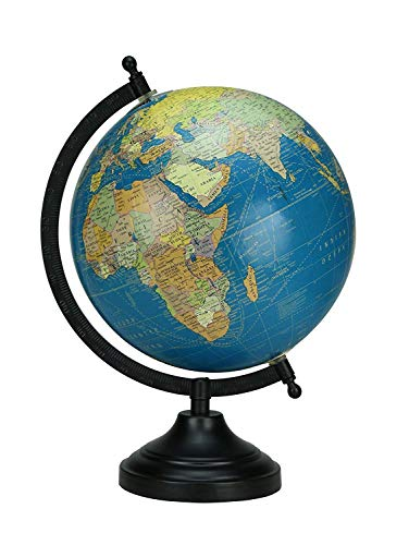 Desktop Globe Rotating Navy Blue Color Globe Table Decor Ocean Geographical Earth - Perfect for Home, Office & Classroom By Globes Hub