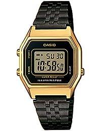 23a8e6b8dd2f Casio Reloj Digital para Mujer de Cuarzo con Correa en Acero Inoxidable  LA680WEGB-1AEF