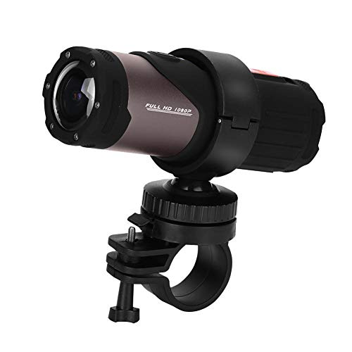 Richer-R Fotocamera DV Mini Sport 1080P HD,ASHATA 12MP 10M Fotocamera Moto Casco Impermeabile, WiFi Mini Sport Fotocamera Casco Ciclismo Digitale Videocamera per Sport all'Aria Aperta Nero
