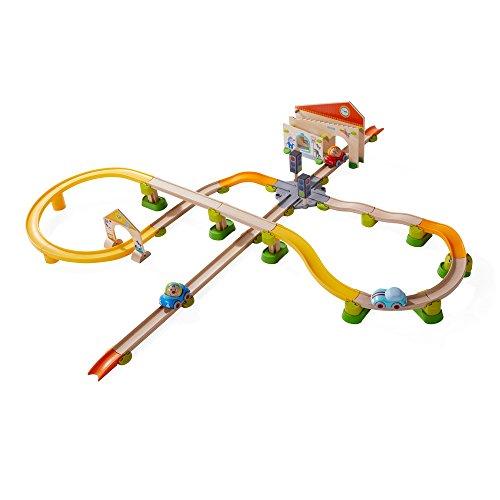 HABA 303082 Kullerbü – Spielbahn Stadtbummel, Kleinkindspielzeug