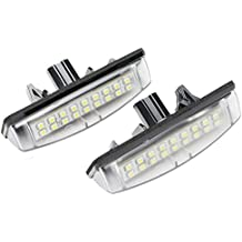 GZLMMY - 2 luces LED para matrícula de Camry AURION 07 Avensis Verso PRIUS Previa ACR50