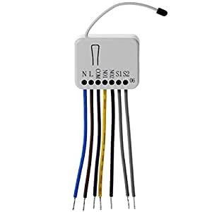 Z-Wave PHI_PAN06 Philio Relais Unterputzeinsatz 2 Schalter a 1.5kW