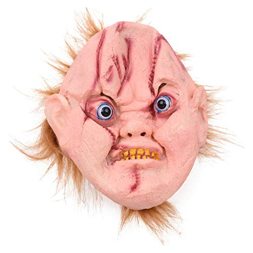 Kostüm Gruselige Alte Mann - HL Cloud Maske, gruselige alte Mann Maske und Haar-Halloween Scary Mask Party Kostüm Requisiten for Erwachsene MJ0829