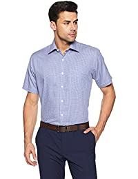 Louis Philippe Men's Printed Regular Fit Formal Shirt